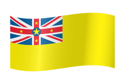 Flag of Niue - Waving