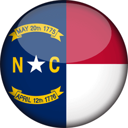 Drapeau du North Carolina - 3D Rond