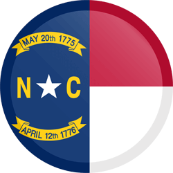 Flag of North Carolina - Button Round