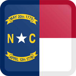Flag of North Carolina - Button Square