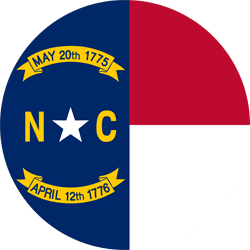 Drapeau du North Carolina - Rond