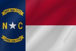 Drapeau du North Carolina - Vague