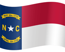 Flag of North Carolina - Waving