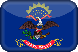 Flag of North Dakota - 3D