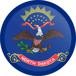 Flag of North Dakota - Button Round