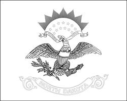 Vlag van North Dakota - A4