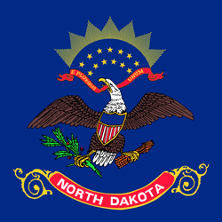 North Dakota flag vector