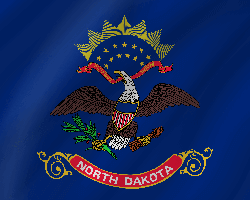 Flag of North Dakota - Wave