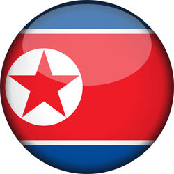 Flag of North Korea - 3D Round