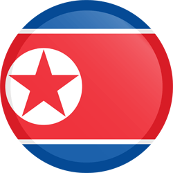Flag of North Korea - Button Round