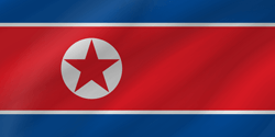 Noord Korea vlag icon - gratis downloaden