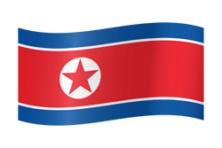Flag of North Korea - Waving