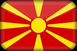 Drapeau de la Macédoine du Nord - 3D