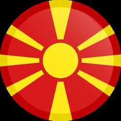 Vlag van Noord Macedonië - Knop Rond