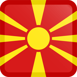Vlag van Noord Macedonië - Knop Vierkant