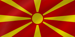 Flag of North Macedonia - Flag of North Macedonia - Wave