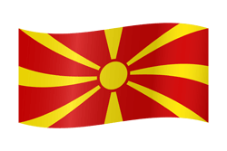Drapeau de la Macédoine du Nord - Ondulation