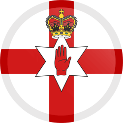 Flag of Northern Ireland - Button Round