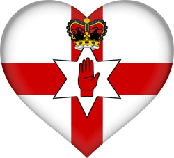 Flag of Northern Ireland - Heart 3D