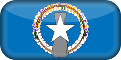 Flag of Northern Mariana Islands - 3D