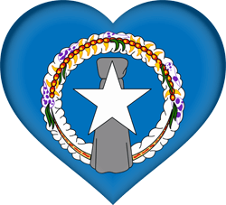 Flag of Northern Mariana Islands - Heart 3D