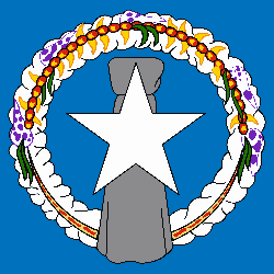 Flag of Northern Mariana Islands - Square