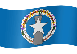 Flag of Northern Mariana Islands - Waving