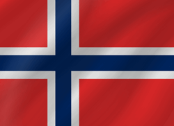 Flagge Norwegens - Welle