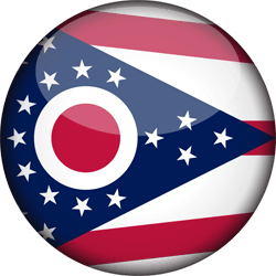 Flag of Ohio - 3D Round