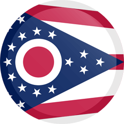 Flag of Ohio - Button Round
