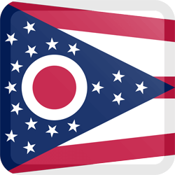 Flag of Ohio - Button Square