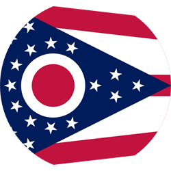 Flag of Ohio - Round