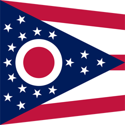 Drapeau de Ohio - Carré