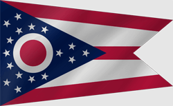 Drapeau de Ohio - Vague