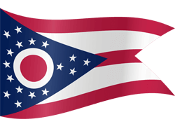 Flag of Ohio - Waving