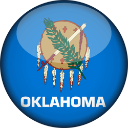 Flag of Oklahoma - 3D Round