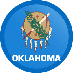 Flag of Oklahoma - Button Round