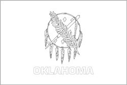 Flagge von Oklahoma anmalen - Gratis Download