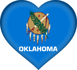 Flag of Oklahoma - Heart 3D