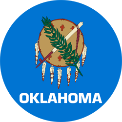 Flag of Oklahoma - Round