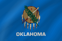 Drapeau de Oklahoma - Vague