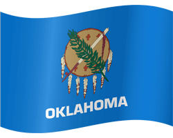 Flag of Oklahoma - Waving