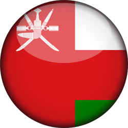 Flag of Oman - 3D Round