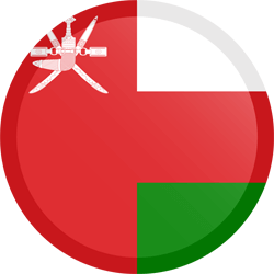 Flag of Oman - Button Round
