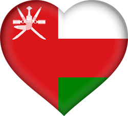 Flag of Oman - Heart 3D