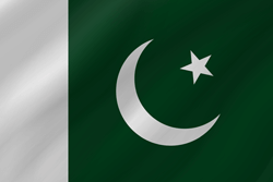 Drapeau du Pakistan - Vague