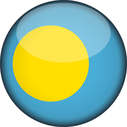 Palau flag icon - free download