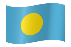 Palau flag vector - free download