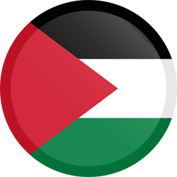 Flag of Palestine - Button Round
