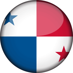Flag of Panama - 3D Round